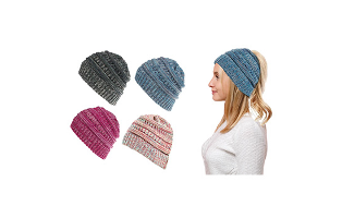 Warm Winter Ponytail Beanie Hat Cap - $11.99 with FREE Shipping!