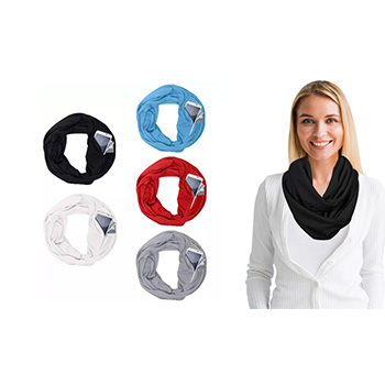 Lightweight Infinity Scarf With Pocket Loop Zipper - $11.99 with FREE Shipping!
